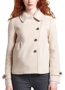 Anthropologie Leifnotes Asymmetric Cropped Pea Coat