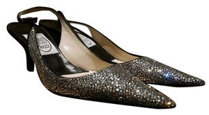 Emma Hope Slingback Satin Austrian Crystal / Black Formal