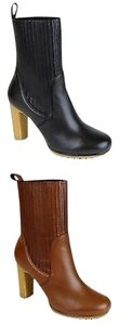 Gucci Womens Leather Heel Mid Boots