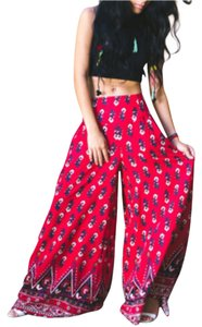 Free People Flare Pants Red, black combo