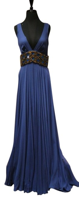 Preload https://item1.tradesy.com/images/jenny-packham-navy-jeweled-gown-with-jeweled-waistband-long-night-out-dress-size-10-m-1224520-0-1.jpg?width=400&height=650