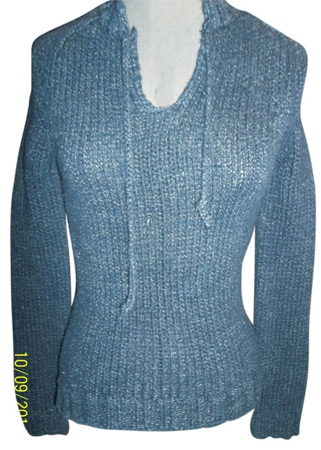 American Eagle Outfitters Xsmall Cotton Mediumweigt Vee Neckline Sweater