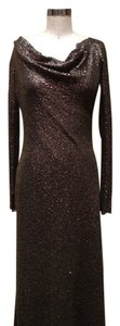 Jenny Packham Sequin Cowl Silk Dress