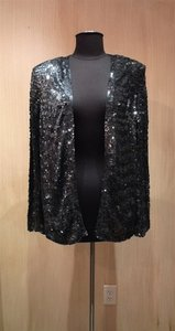 Jenny Packham Sequin Cocktail Top Smoke Grey / Black