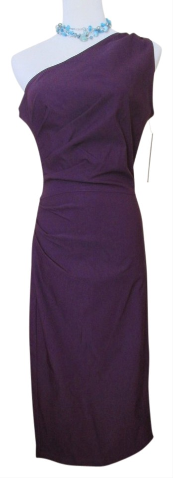 5a2149d8c8465 Stop Staring! Purple Eggplant Plum Gathered Ava Knee Length Cocktail ...