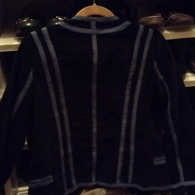 Marc Jacobs Top Black velvet with blue ribbed trim