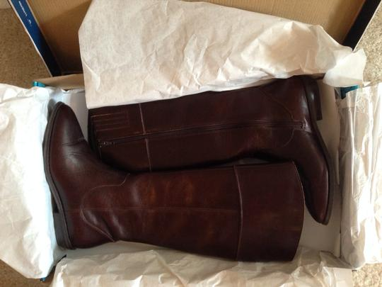Seychelles Leather Knee High Fall Brown Boots