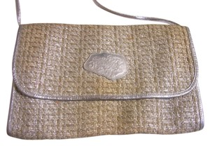 Carlos Falchi Silver Cross Body Bag