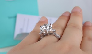 All Sizes Vvs1 3ct Band Wedding Bridal Man Lab Engagement Set All Sizes Cushion Cut Diamond Engagement Ring Pt950 All