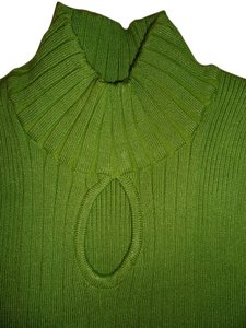 Tiara International Keyhole Mock Turtleneck Sweater