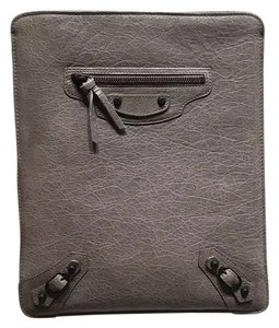 Balenciaga New Authentic Balenciaga iPad Gray Leather Case