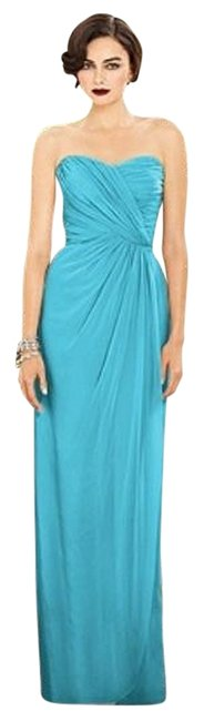 Dessy Turquoise 2882 Long Night Out Dress Size 10 (M) Dessy Turquoise 2882 Long Night Out Dress Size 10 (M) Image 1