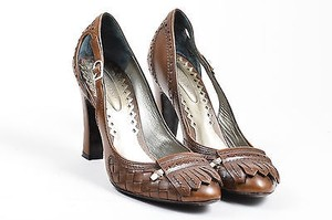 Bottega Veneta Leather Brown Pumps