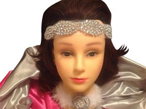 Crystal Vintage Headband New! Beautiful Crystal Sets Halo Headband Vintage Wedding Look (One Size)