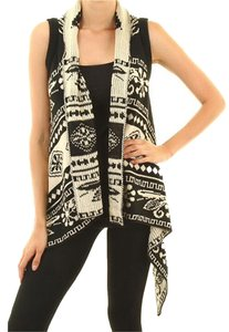 Ci Sona Aztec Long Vest Sweater Cardigan