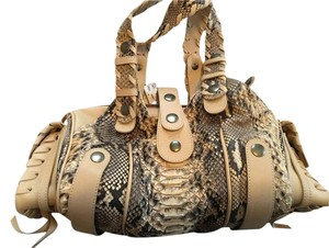 Chlo Leather Snakeskin Shoulder Bag