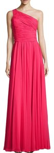 Halston One Shoulder Evening Dress