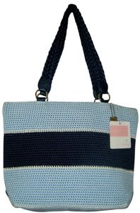 Lina Satchel in NAVY & LT BLUE