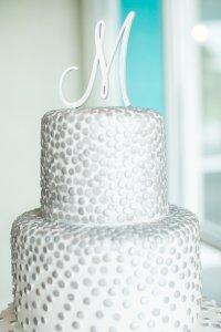 Brushed Silver M Cake Topper
