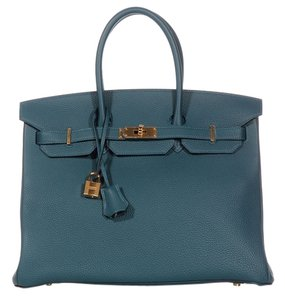 Hermès Birkin 35 Gold Hardware Togo Leather Hr.k0114.11 Satchel