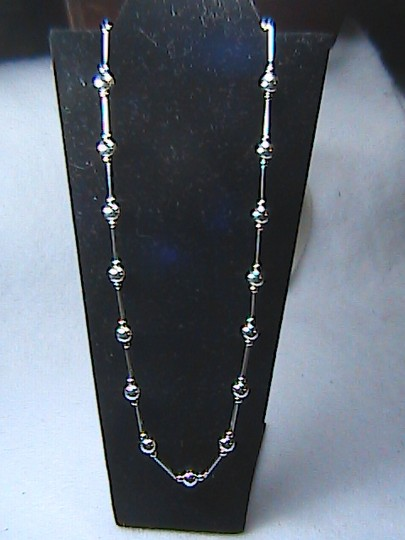 Unknown Sterling 14k Solid Yellow Gold Beads Necklace