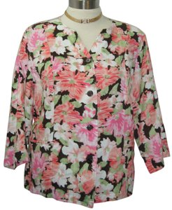 CHOICEDS Jacket Or Top PINK FLORAL PRINT