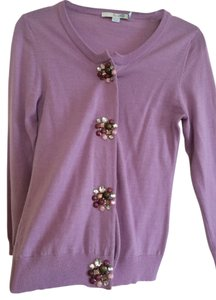 Boden Jewled Buttons Lightweight Work Cardigan