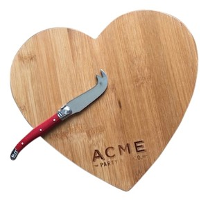 Acme Party Box Co. Heart Cheese Cutting Board