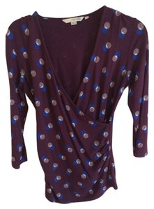 Boden Wrap Top Purple