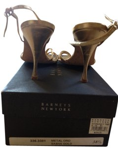 Barneys New York Heel Stiletto Gold Pumps