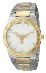 GAME TIME EXECUTIVE SERIES SILVER & GOLD TONE GAME TIME EXECUTIVE TEXAS LONGHORN WATCH