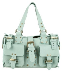 Mulberry Pebbled Buckle Roxanne Aqua Shoulder Bag