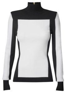 H&M Balmain black and white high neck top Tunic
