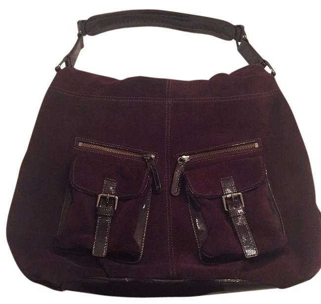 Item - Purple Suede and Leather Hobo Bag