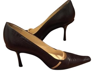 Jimmy Choo Brown/Camel Pumps