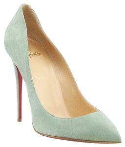 Christian Louboutin Pigalle 120 Suede Heels Blue Pumps