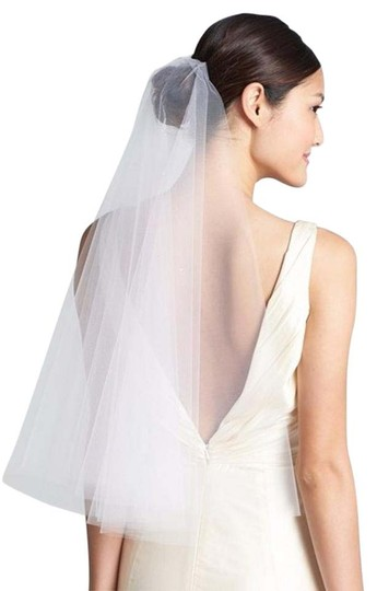 White Medium 'madeline - Crystal' Two Tier Bridal Veil