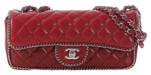 Chanel Dark Red Chain Flap 2007 Soft Shoulder Bag