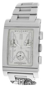 BVLGARI Bvlgari Bulgari Rettangolo RTC49S Chrono Steel Automatic Watch