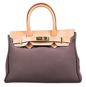 Leghila Tan Neoprene Tote in Brown