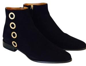 Chlo Chloe Suede Gold Black Boots