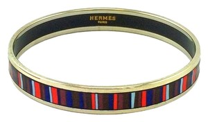 Hermès Hermes Printed Enamel Stripes Narrow Bracelet 70