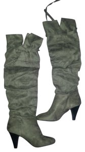 Charlotte Russe Knee Ruse Gray Boots