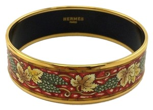 Hermès Hermes Printed Enamel Cloisonne Grape Wide Bracelet 70