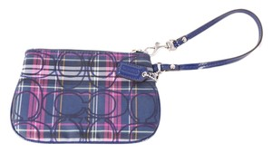 Coach Wristlet in Blue/Multi