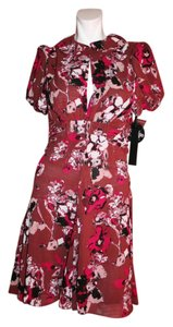 Karl Lagerfeld short dress Burgundy Print Retro Parisian on Tradesy