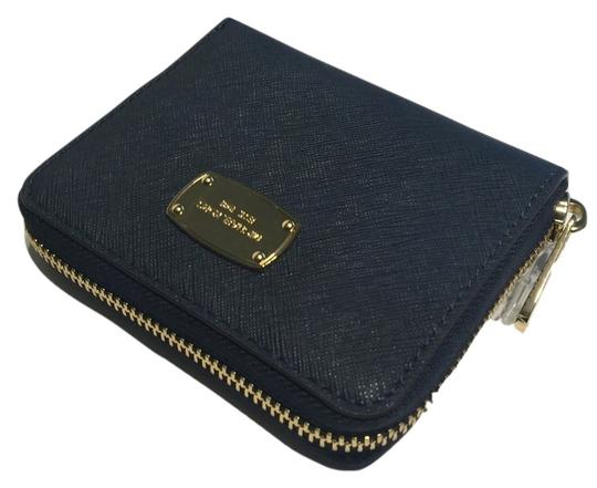 b68aea1db2e0fe Michael Kors Saffiano Wallet Navy | Stanford Center for Opportunity ...