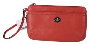 Coach Wristlet in Sienna Orangish Red
