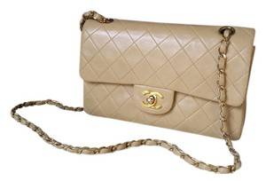 Chanel Double 2.55 Lambskin Classic Flap Quilted Shoulder Bag
