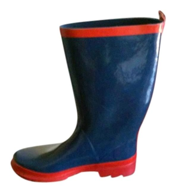 Item - Blue and Red Navy Rain Boots/Booties Size US 9 Regular (M, B)